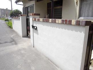 エクステリアリフォーム 多色レンガでおしゃれに彩る門塀
