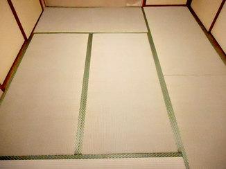 小工事 寒い時期には1日で畳の表替え