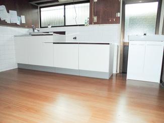 キッチンリフォーム しっかり補強した床の安心キッチン