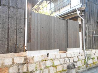 エクステリアリフォーム 和風の自宅に添えて違和感のない柵