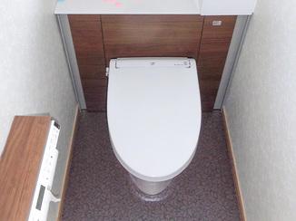 トイレリフォーム 収納も増えて快適に使える洋室トイレ
